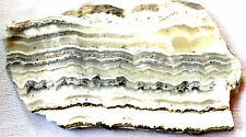 Dendritic Onyx - 265 grams - White - Black - Silver - Gold - Banded