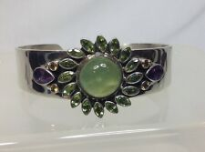 Nicky Butler Sterling Silver Amethyst Citrine Peridot Cuff Bracelet Med-Large