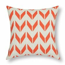 Orange Zigzag Wing Geometric Figures Cotton Linen Throw Pillowcase Cushion Cover
