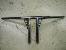 "CHROME 8"" SANTEE ""STRAIGHT UP"" 1-1/4"" T-BAR HANDLEBARS HARLEY FX XL FXD FXR FLST"