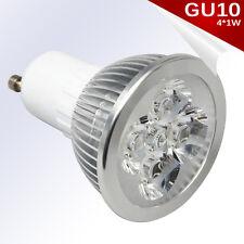 Bombilla LED GU10 4*1W High Power LED Blanco Puro AC 85-240V - Únicamente 4W.