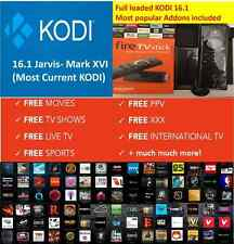Amazon Fire TV Stick Jailbroken KODI 16.1 MOVIES PPV XXX unlocked Fully Loaded