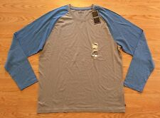 NWT Men's IZOD Gray Blue Long Sleeve Crew Neck Shirt Size XL Extra Large