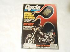 NOVEMBER 1980 CYCLE MAGAZINE,HARLEY DAVIDSONS 80 INCHERS,YAMAHA SR500G,HONDA CB7