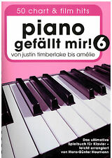 Piano notes piano me plaît 6 - 50 Chart et Film Hits-spiralbindung