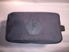 nwot authentic YSL gray nylon VANITY BAG makeup bag DOPP KIT Saint Laurent