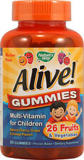 Alive! Children's Multi-Vitamin Gummies, Nature's Way, 90 piece