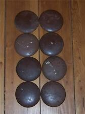 Round Wood Cabinet Drawer Knobs  Set of 8 Vintage Good Condition
