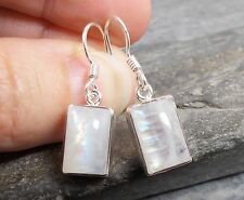 925 Silver RAINBOW MOONSTONE Earrings E549~Silverwave*uk Jewellery