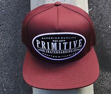 Primitive Apparel Skateboard Burgundy logo Snapback Mens Hat Cap HTPRM-243