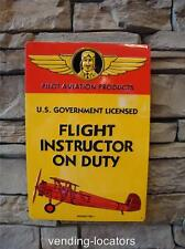 Pilot Aviation Products Flight Instructor on Duty Sign Airplane Plane Flying NEW