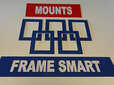 25 x BLUE PICTURE/PHOTO MOUNTS 10x8 for 6x4