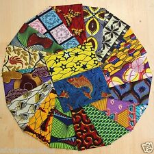 African Cotton Wax Print Fabric *Fat Quarter Bundles* Crafting,Patching,Quilting