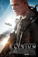 Elysium  - original DS movie poster - D/S 27x40 Matt Damon FINAL