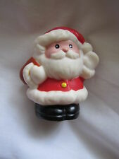 Fisher Price Little People SANTA CLAUS w/ BROWN BAG Christmas Holiday Cute 1998