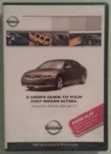 A USERS GUIDE TO YOUR 2007 NISSAN ALTIMA   DVD NEW owners manual requires pc