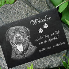 PERSONALISED PET MEMORIAL Slate stone your Photo + Text  LASER - Photoengraving