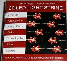 """Christmas LED GINGERBREAD MEN STRING LIGHTS  Battery Operated 40"""" Long"""