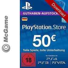 Playstation Network Code 50 Euro   PSN   PS4, PS3, PSP, PS Vita   Neu