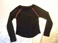 NWT ~ EVERLAST black w/ pink long-sleeve active wear sports top ~ girls L 10 12