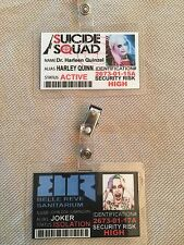 HARLEY QUINN JOKER SUICIDE SQUAD ID CARD PROP COSPLAY