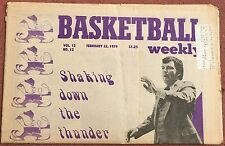 FEBRUARY 22, 1979 BASKETBALL WEEKLY  NOTRE DAME DIGGER PHELPS ON COVER  NBA NCAA