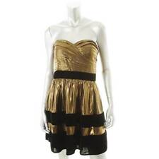 MISS SIXTY ~ NEW $189 BLACK & METALLIC GOLD CLUB COCKTAIL DRESS ~ SZ 6 ~ NWT