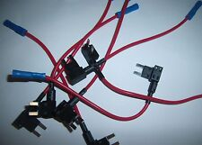 (5) ATM Mini Fuse Tap to Add on an Electronic Device Dual Circuit Adapter Auto