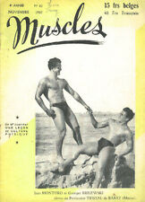 MUSCLES 42 1949 Bodybuilding GAY Beefcake Culturisme Magazine revue Musculation