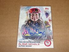 2014 Topps US Olympic ALANA NICHOLS #66 Autograph SP Women's Alpine Skiing