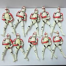 Random 1pcs 2001 Star Wars Attack Of The Clones Red Clone Trooper Action Figure