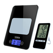 Electronic Digital Kitchen Food Diet Postal Scale 11lb/5kg LCD Timer Thermometer