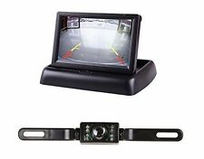 "4.3"" Foldable LCD Display Monitor+IR License Plate Rear View Reversing Camera"