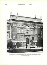 1903 Newbuilding Royal Academy Fine Arts Stockholm Gothenburg Home For Incurable