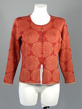 Oleana silk wool red button front cardigan size M