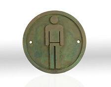 NEW, Hand Made Male Man, Toilet, Bathroom Bronze Resin wall, shed, plaque, sign.