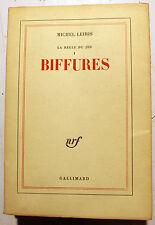 LEIRIS/LA REGLE DU JEU/TOME I/BIFURES/NRF/1968