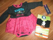 lot girls christmas / holiday /Halloween creeper bodysuit dress 3 - 6 months NWT