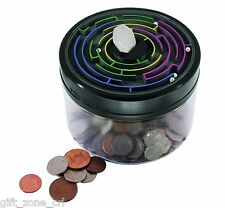 Peers Hardy MAZE SAFE Puzzle Game + Money COIN BOX Piggy Bank - BLACK