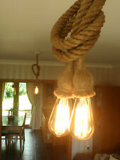 3 x Rope Industrial Pendant Lamp Edison Retro Chandelier Lighting Ceiling Lights