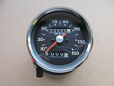60-2394 1970-78 BSA TRIUMPH AJS 1.25:1 SPEEDOMETER CLOCK - BLACK FACE