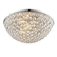 Endon Chryla 3lt chasse lampe plafond salle de bain IP44 18W chromé &