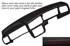 RED STITCH DASH DASHBOARD LEATHER SKIN COVER FITS VW GOLF MK3 III JETTA 91-98