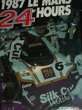 LE HEURES DU MANS 24 HOURS OFFICIAL YEARBOOK ACO 1987 PORSCHE 962 JAGUAR GROUP C