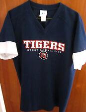 DETROIT TIGERS youth lrg T shirt retro baseball kids tee throwback embroidery