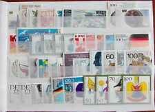 Germany Complete Year 1990 Stamp Set + Souvenir Sheet Singles MNH German Stamps