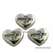 10pcs In Memory of Floating charms For Glass Memory Locket Free shipping FC853