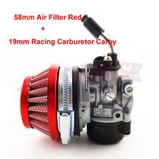 58mm Performance Air Filter +Racing Carburetor For MiniATV Dirt Pocket Bike