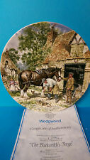 The Blacksmith's Forge Wedgwood Life on the Farm John Chapman Plate