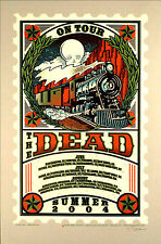 2004 THE GRATEFUL DEAD SUMMER TOUR TRAIN STAMP 04 CONCERT POSTER GORGE NY CA CO